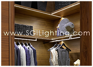 Image of SGi's LED Task Lighting in Closet
