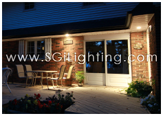 Image of SGi's LED Residential Outdoor Lighting - Soffit Lighting