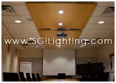 Image of SGi's Commercial Office Lighting for Tyco Boardroom Project