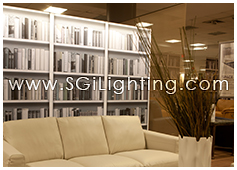 Image of SGi's LED Retail Display Lighting for Natuzzi