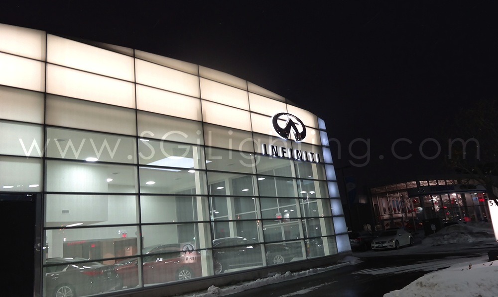 Image of SGi's LED Facade Lighting Commercial Installation