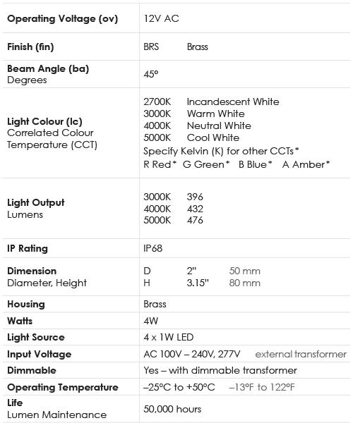 Spec Chart_Spot_Underwater Bell