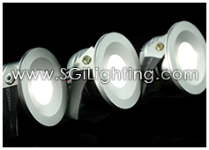 Image of SGi's LED Accent Light - 1 Watt Bullet Light Recessed - Professional Grade