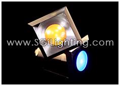 Image of SGi's LED Accent Light - 3 Watt Inground Light Square RGB - Professional Grade