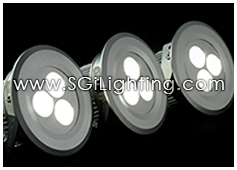 Image of SGi's LED Accent Light - 3 Watt Puck Light Recessed - Professional Grade