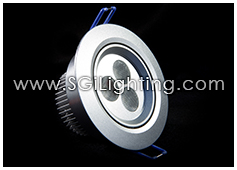 Image of SGi's LED Accent Light - 3 Watt Puck Light Swivel - Professional Grade