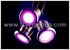 Image of SGi's LED Accent Light - 0.6 Watt Inground Light MiniCylinder RGB - Standard Grade