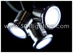 Image of SGi's LED Accent Light - 1 Watt Inground Light MiniCylinder - Standard Grade