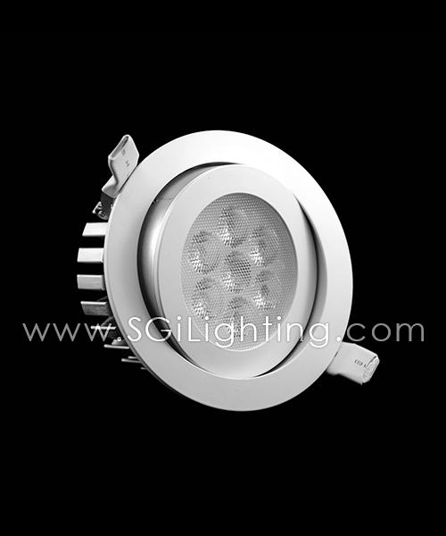 SGi LED Downlights [S]_7 Watt Swivel Light