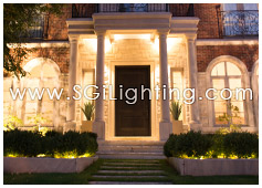 Image of SGi's LED Facade Lighting in a Landscape Application