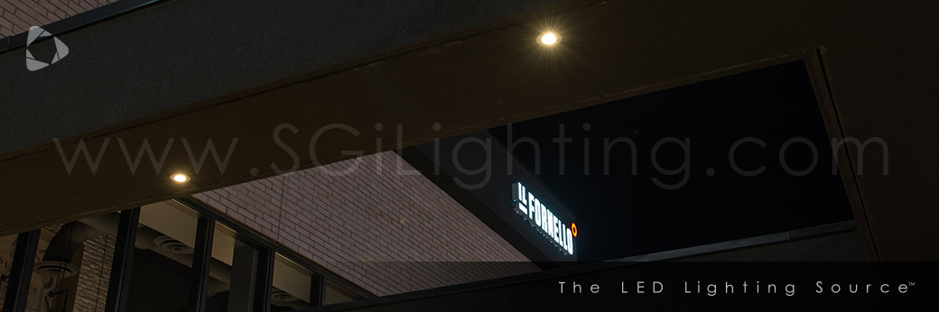 Image of SGi's LED Commercial Restaurant Patio Lighting for Il Fornello
