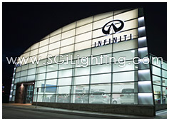 Image of SGi's LED Facade Lighting for Endras Infiniti