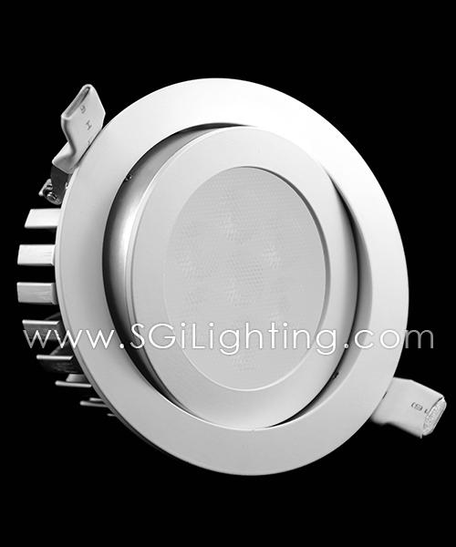 SGi LED Downlights_12 Watt Swivel RGB