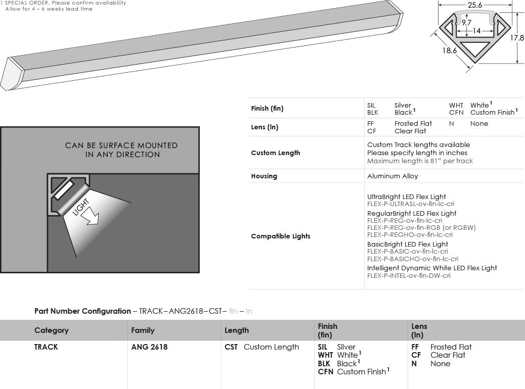 Image of SGi's LED Track Low Profile 2610