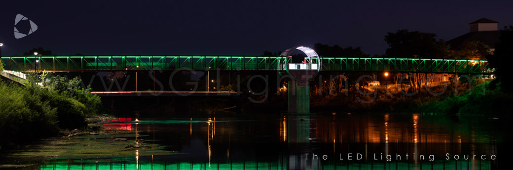Image of SGi Lighting Cambridge Pedestrian Bridge - Architectural Bridge Lighting