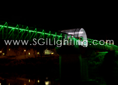 Image of Cambridge Pedestrian Bridge with SGi's LED Flex Lights
