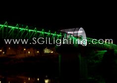Image of Cambridge Pedestrian Bridge with SGi's LED Flex Lights