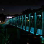 Image of SGi Lighting Cambridge Pedestrian Bridge - Teal