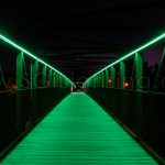 Image of Cambridge Pedestrian Bridge with SGi's LED Flex Lights in Green