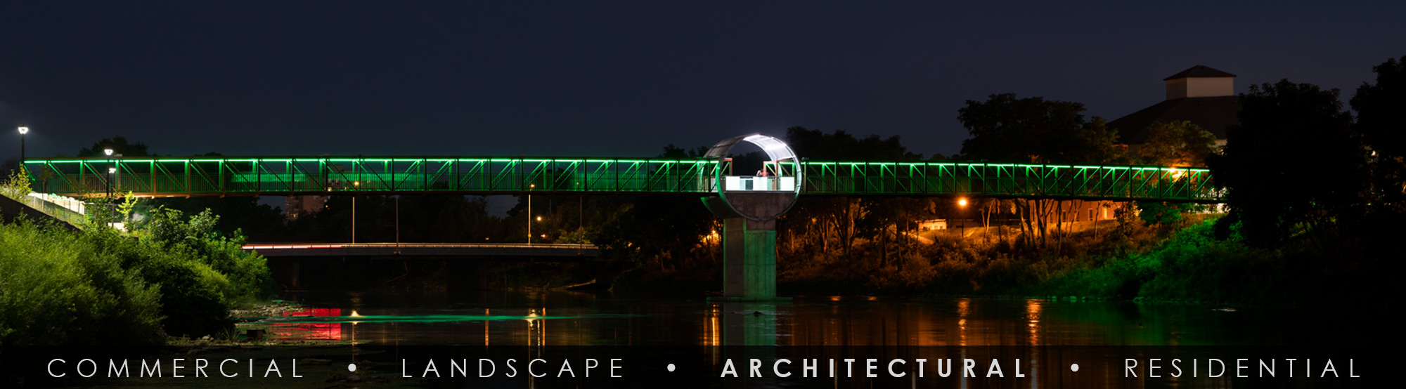 SGi LED Architectural Bridge Lighting Cambridge Bridge