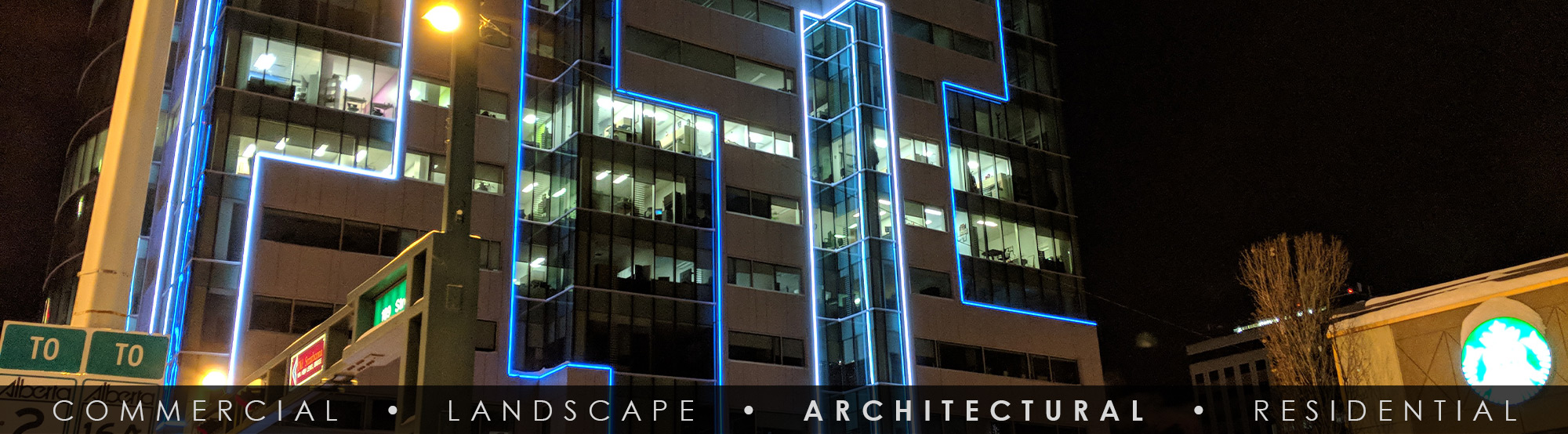 SGi LED Architectural Facade Lighting WSP Building