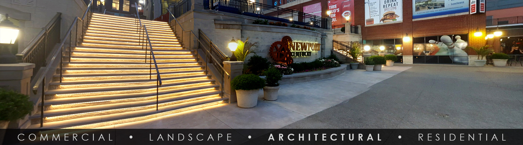 SGi LED Architectural Step Lighting Newport on the Levee