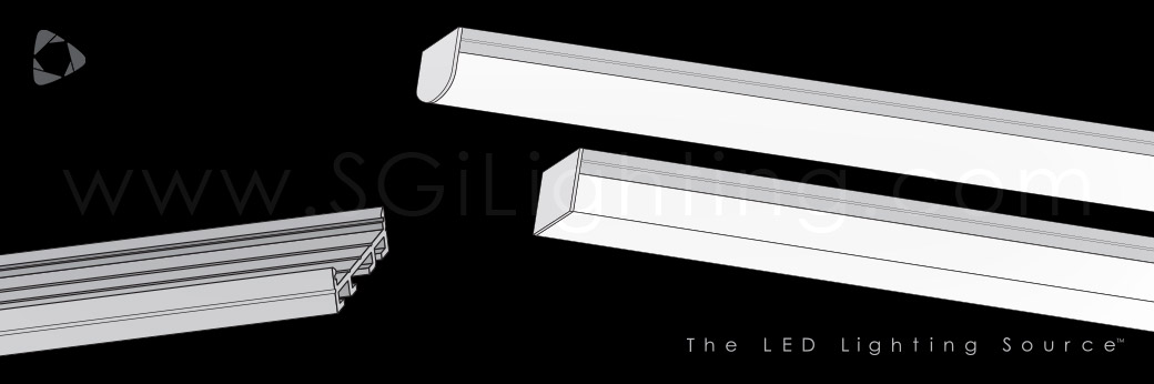 Image of SGi's LED Flex Track Low Profile 2610 with Dome or Box Lens