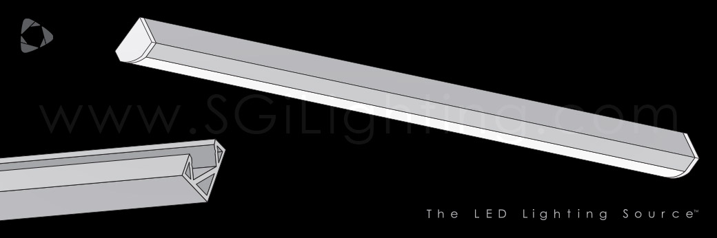 Image of SGi's LED Flex Track Angled 2618