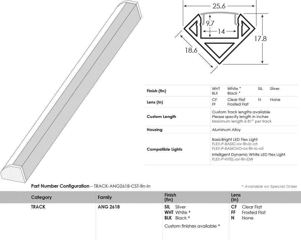 LED Track Angled