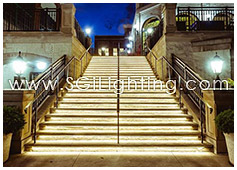 Image of SGi's LED Step Lighting for Newport on the Levee