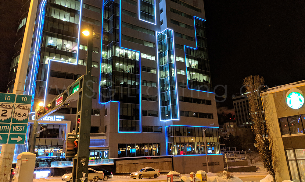 Image of SGi's LED Neon Lights for WSP Place